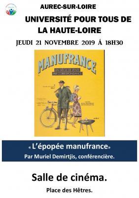 Affiche manufrance